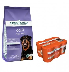 Arden Grange Adult Large Breed 12 kg + 6 puszek Arden Grange Chicken 395 g GRATIS