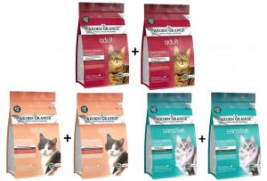 Arden Grange Cat Salmon Chicken Sensitive Grain Free 3 x 400 g + 400 g GRATIS